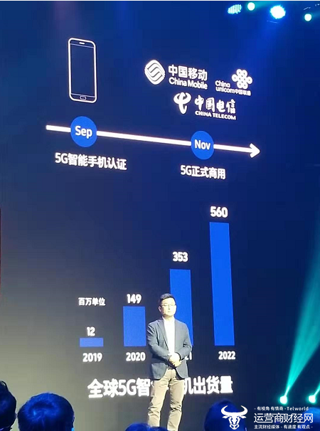 三星赵壮镐:预计2019年全球5G智能手机出货量...