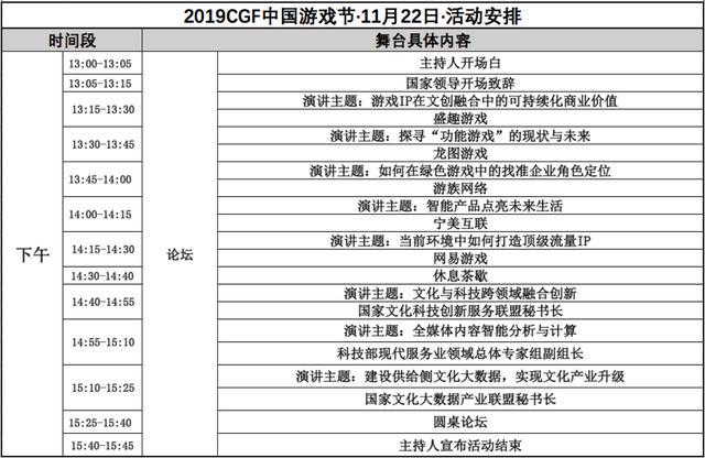 11月22-24日2019 CGF中国游戏节展会现场活动首次曝光 展会活动-第4张