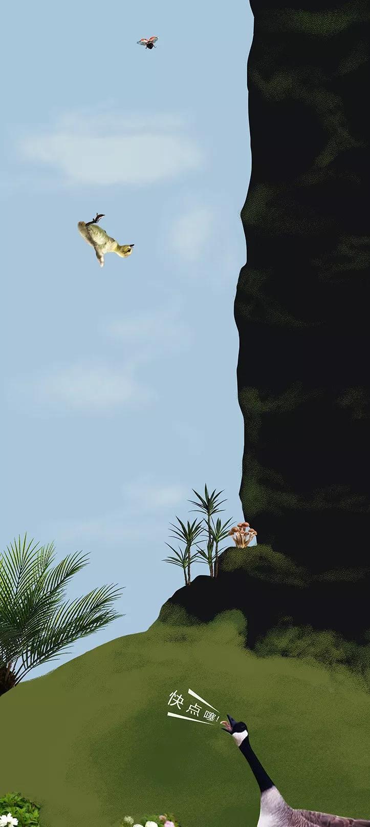 这种雏鸟一出生就跳楼,还只摔死了一半