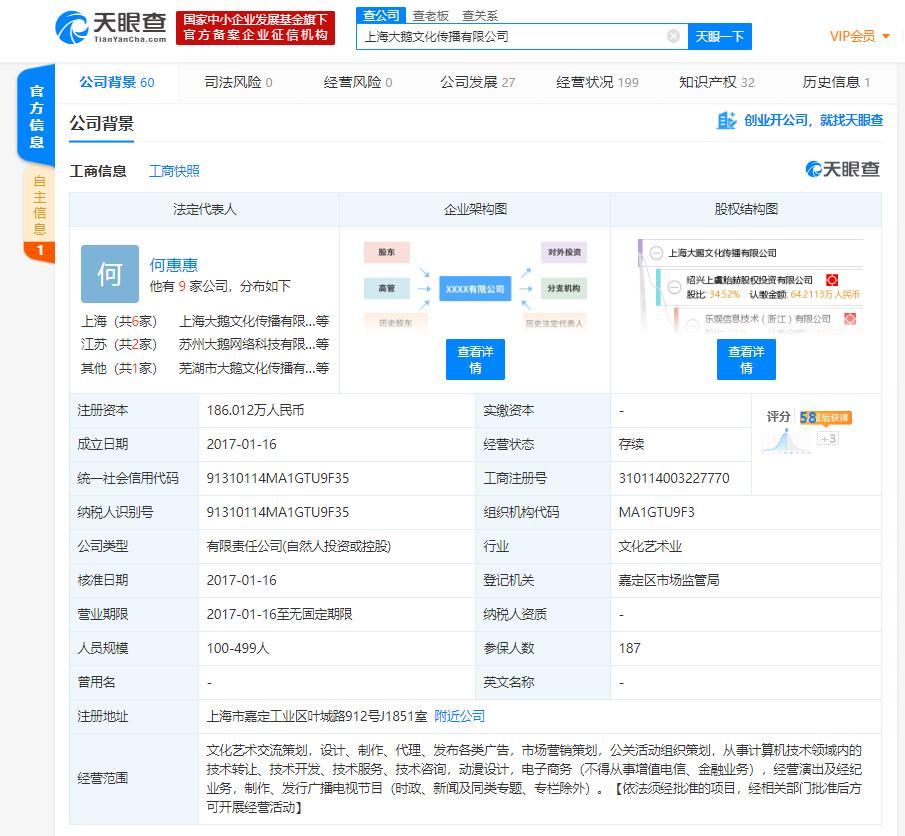 腾讯投资直播经纪公司&MCN大鹅文化公司主要聚集王者荣耀、吃鸡手游等_融资