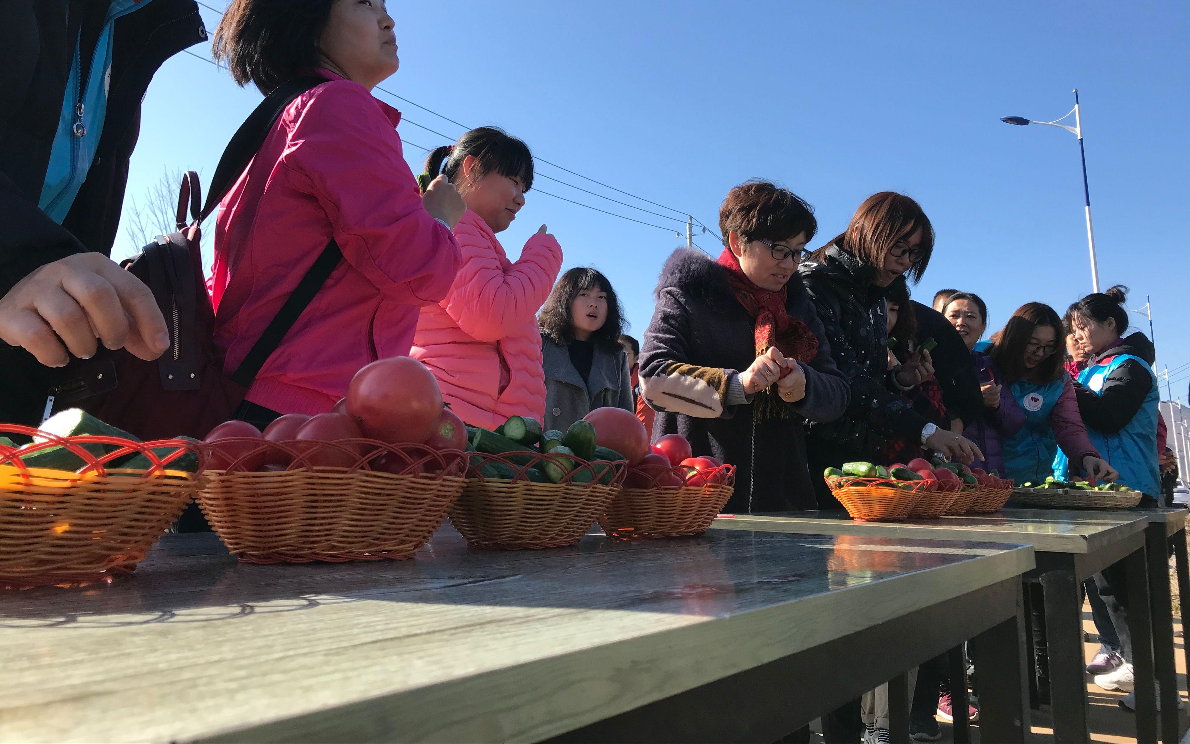 冬天也可采摘,密云大棚蔬菜进入采摘期_园区