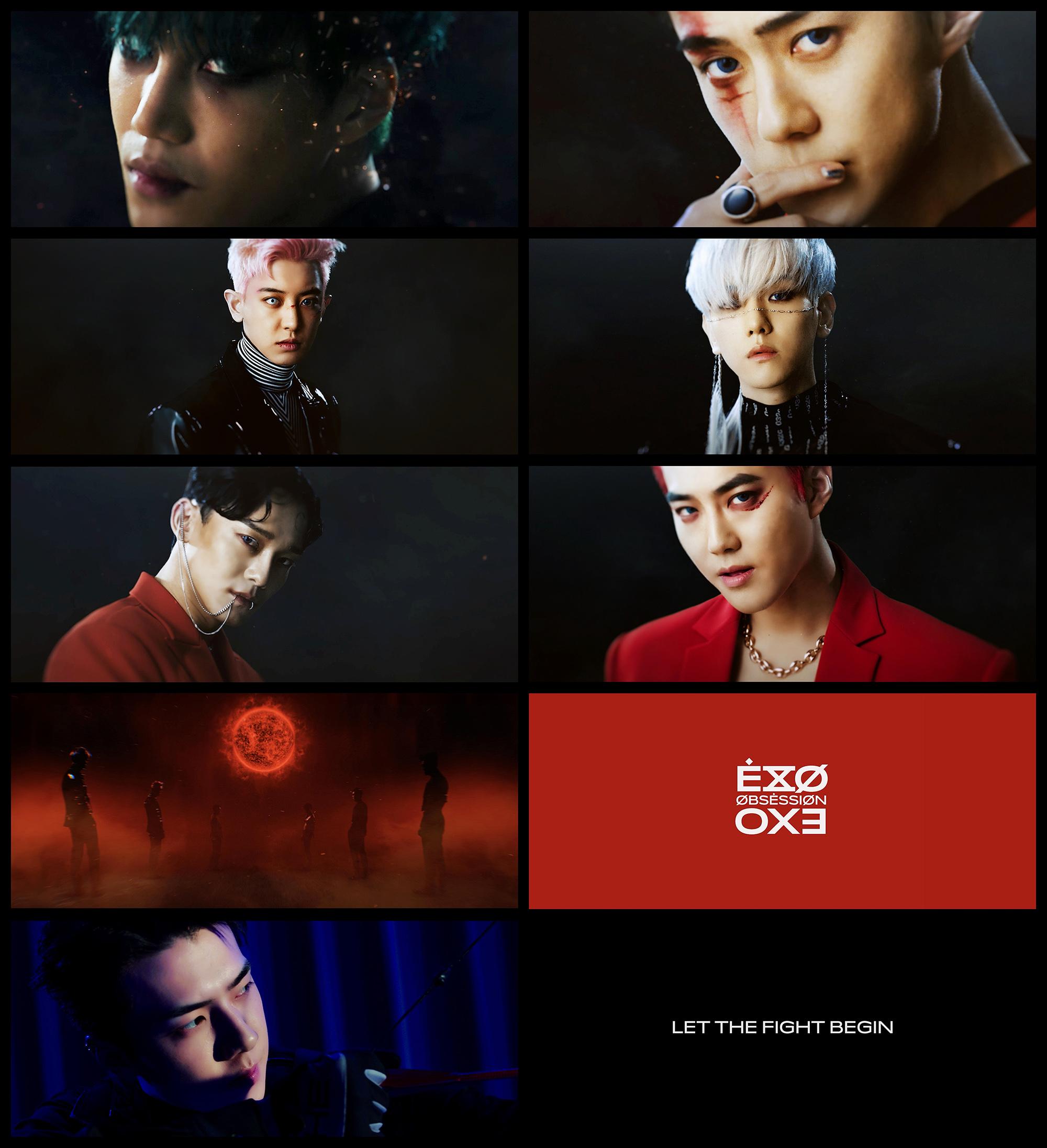EXO VS X-EXO的對決!EXO正規6輯《OBSESSION》進入回歸倒計時