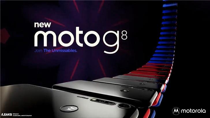摩托罗拉Moto G8设计曝光:48MP四摄+指纹Logo二合一_Plus
