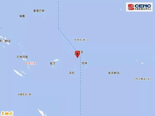 萨摩亚群岛地区发生5.8级地震_中国
