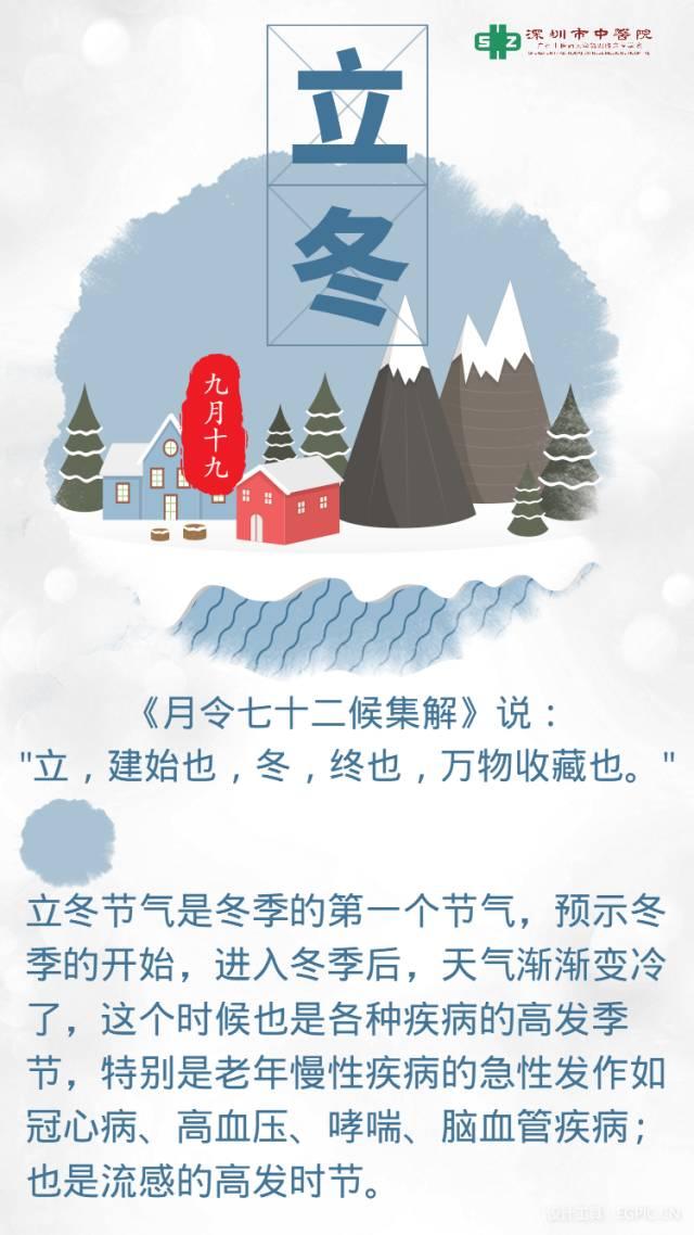 【四季养生】立冬:冬令进补,来春打虎