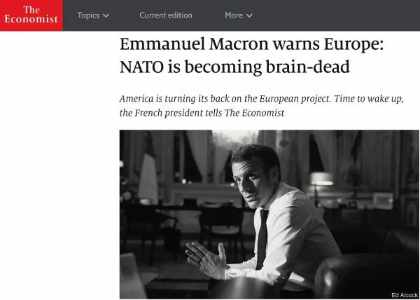 """70岁的北约正经历""""脑死亡""""?马克龙一言激起千层浪_欧洲"""