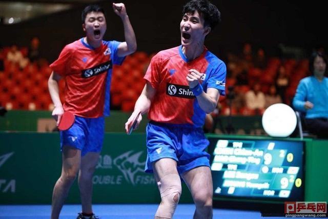 团体世界杯男团半决赛,韩国3比0中国台北,林昀儒1比3张禹珍_郑荣植