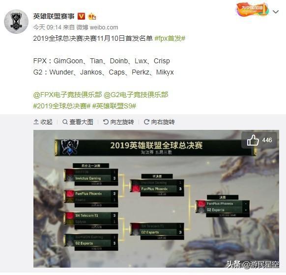 《英雄联盟》S9决赛首发名单公布,双方均启用最强阵容_辅助