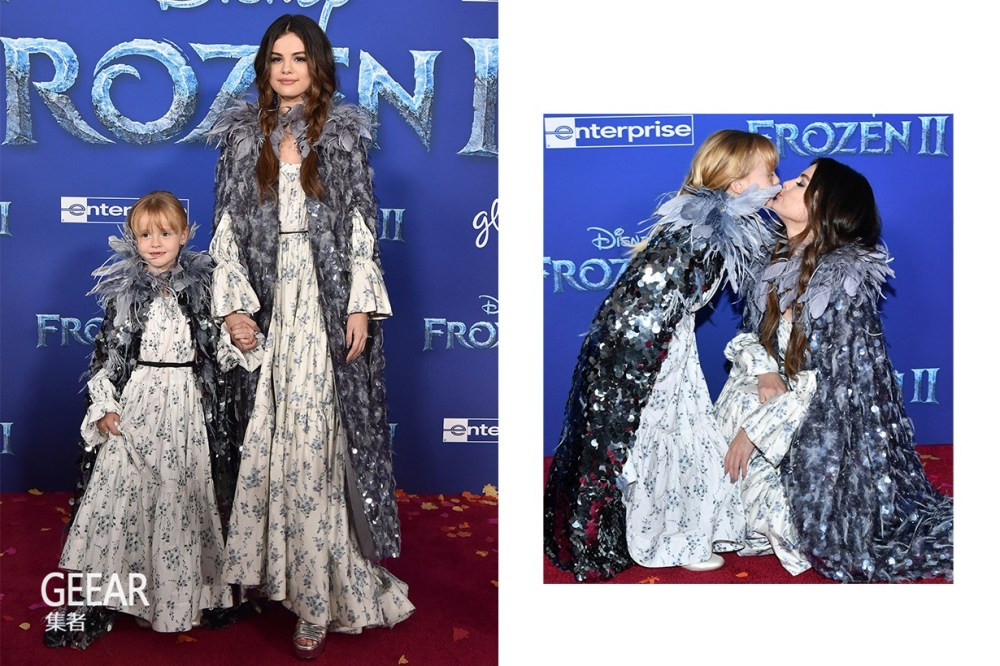 《冰雪奇缘2》首映式,赛琳娜·戈麦斯和妹妹以双胞胎造型现身!_焦点