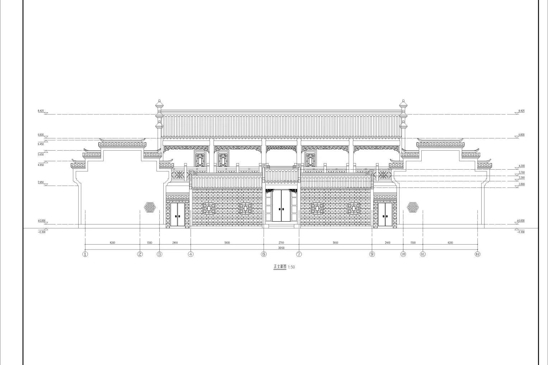 祠堂设计方案图  祠堂设计cad图纸   祠堂设计图集
