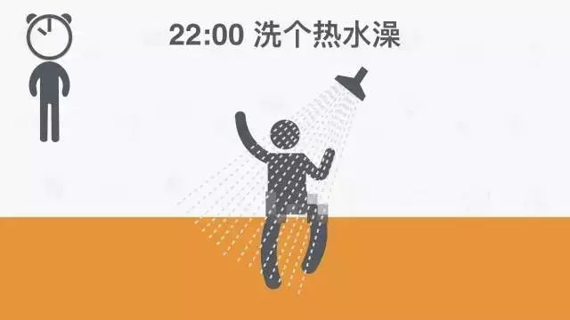 22:00 洗个热水澡
