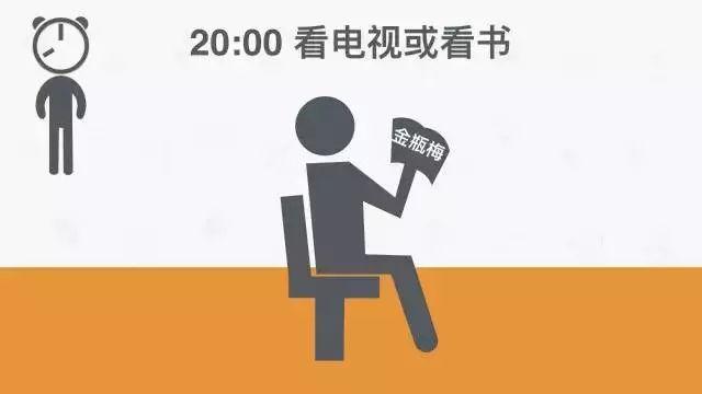 20:00 看电视或看书