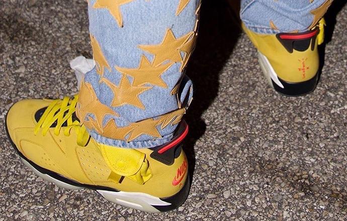 Travis Scott x Air Jordan 6�^�m更新,��檬】精上�!_Yellow