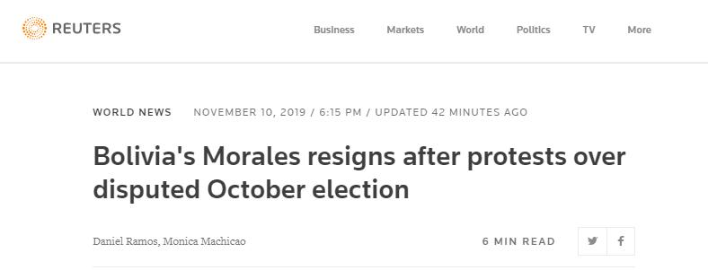玻利维亚总统辞职意味着什么?玻利维亚总统辞职具体情况
