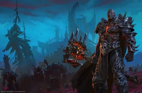 《魔兽世界》画师分享巫妖王伯瓦尔新插画面目狰狞_阿尔萨斯