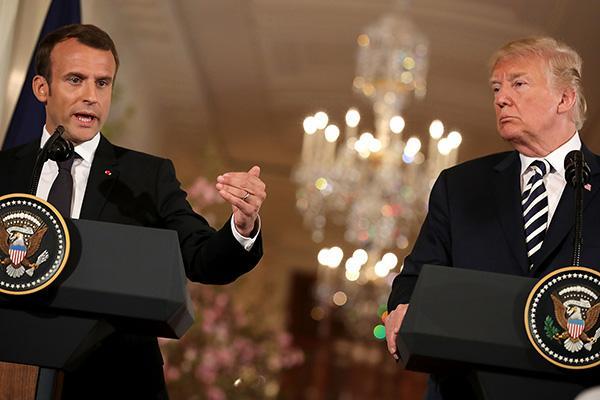 """马克龙总统发表""""脑死亡""""论后:北约峰会前将与特朗普会晤_伦敦"""