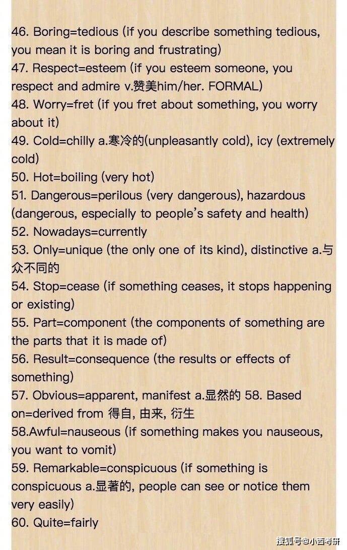 120个英语高级替换词,记住对考研加分有帮助