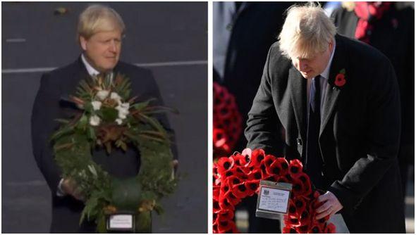 英首相给阵亡将士献了个反的花圈,出糗的却是BBC......_约翰逊