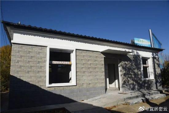 密云不老屯村新建公厕预计年底竣工并投入使用