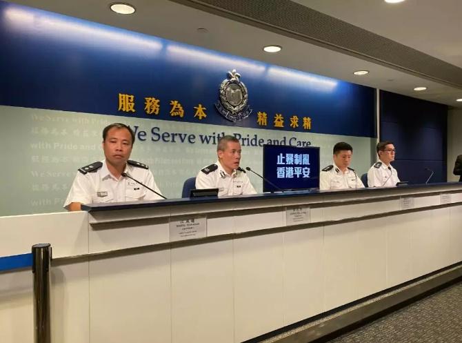 香港警方介绍开枪事件:暴徒欲抢枪警方被迫开枪