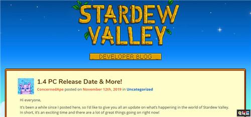 《星露谷》PC版1.4更新宣布11月26日推出_Barone
