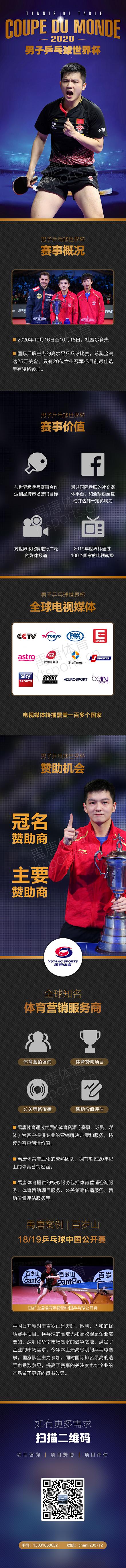 原创            2020年男子乒乓球世界杯赞助合作方案