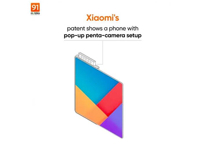 小米升降式五摄设计方案专利曝光,手机采用折叠屏设计