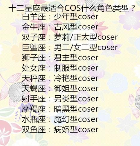 原创 十二星座最适合COS什么角色类型?12星座男对待前任的态度