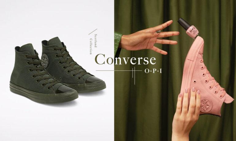 踩着秋天绚丽多彩的柔和印象:Converse X OPI秋冬联名鞋款