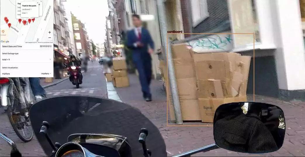 骑上我心爱的小摩托,再挂上AI摄像头,去认识一下全城的垃圾!_检测