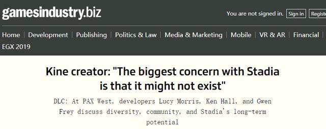 开发者谈Stadia:最怕的其实是谷歌腰斩Stadia计划