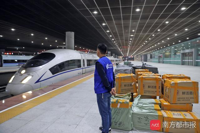 """一图读懂""""中国速度"""":双11包裹坐上高铁实现即日达"""