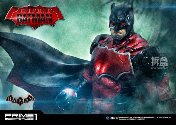Prime1Studio《蝙蝠侠:阿卡姆骑士》蝙蝠侠-红色战衣版1:5雕像_产品