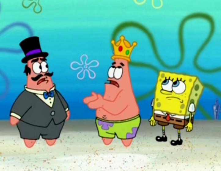 派大星竟然是皇室的子孙,摇身一变就成了比奇堡的国王,想做什么都可以_责任