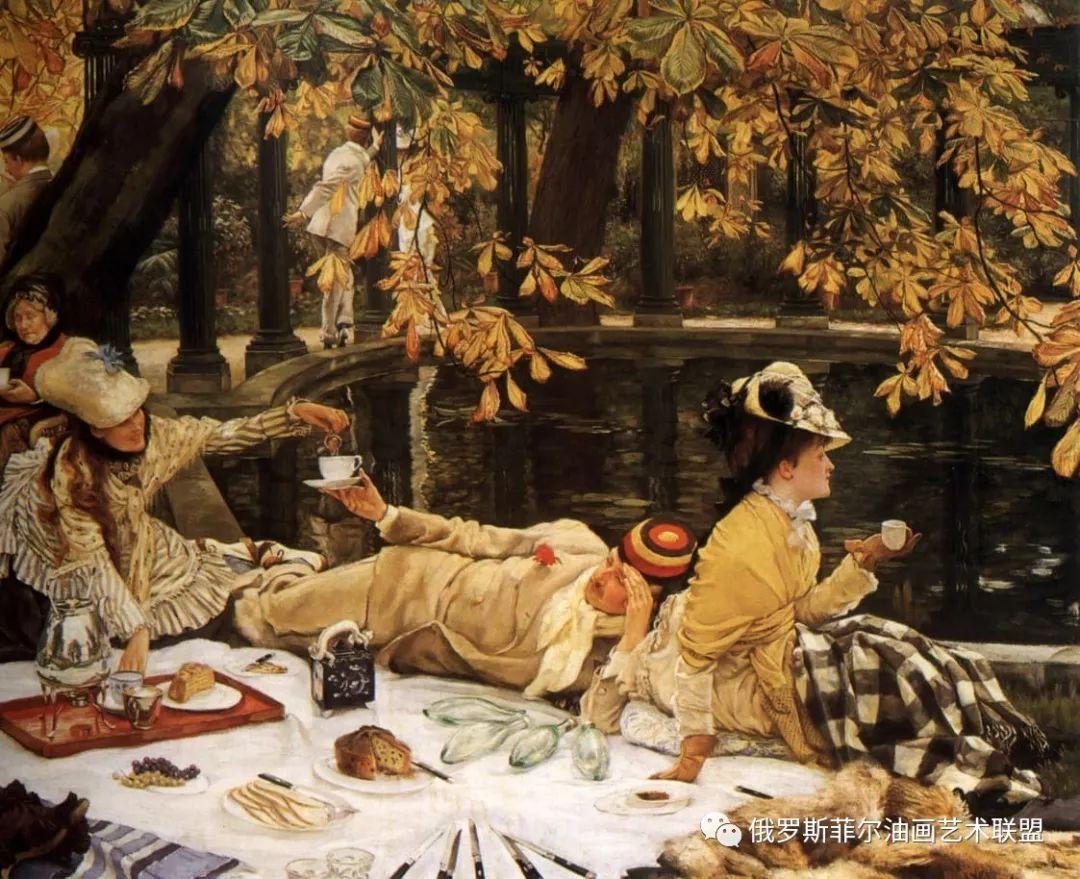 法国艺术家JamesTissot女性人物油画作品赏析(佳品收藏)