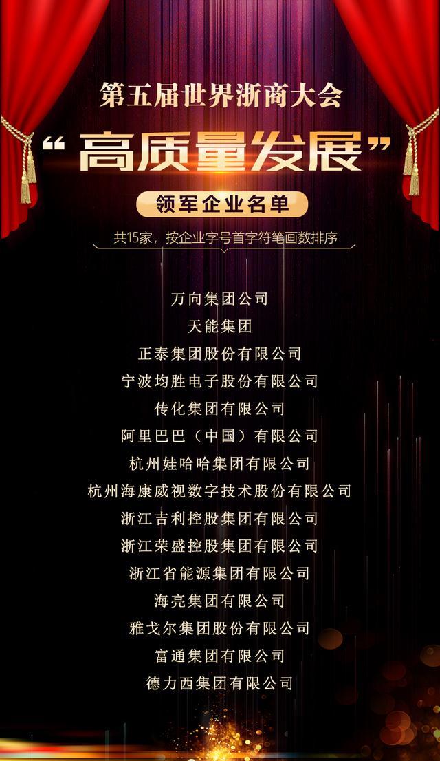 """浙江首评""""高质量发展""""领军企业 正泰集团上榜"""