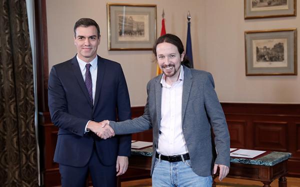 """西班牙工社党与""""我们能""""党合作,或将出现左翼联合政府"""