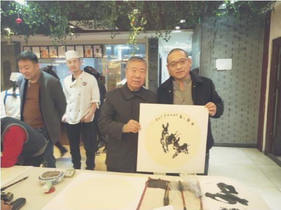 黄胄弟子著名画家李长在书法家吕新华艺术交流唐山行