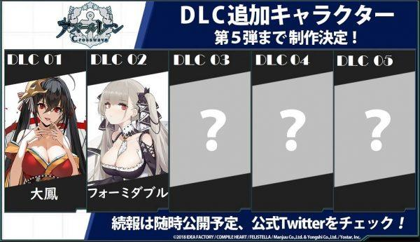 《碧蓝航线Crosswave》将出5大DLC包含角色剧情