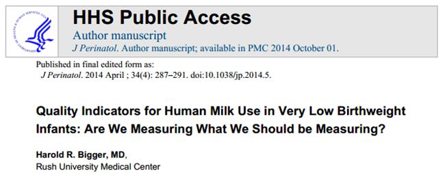 NICU 跟蹤出院母乳喂養率就夠嗎?