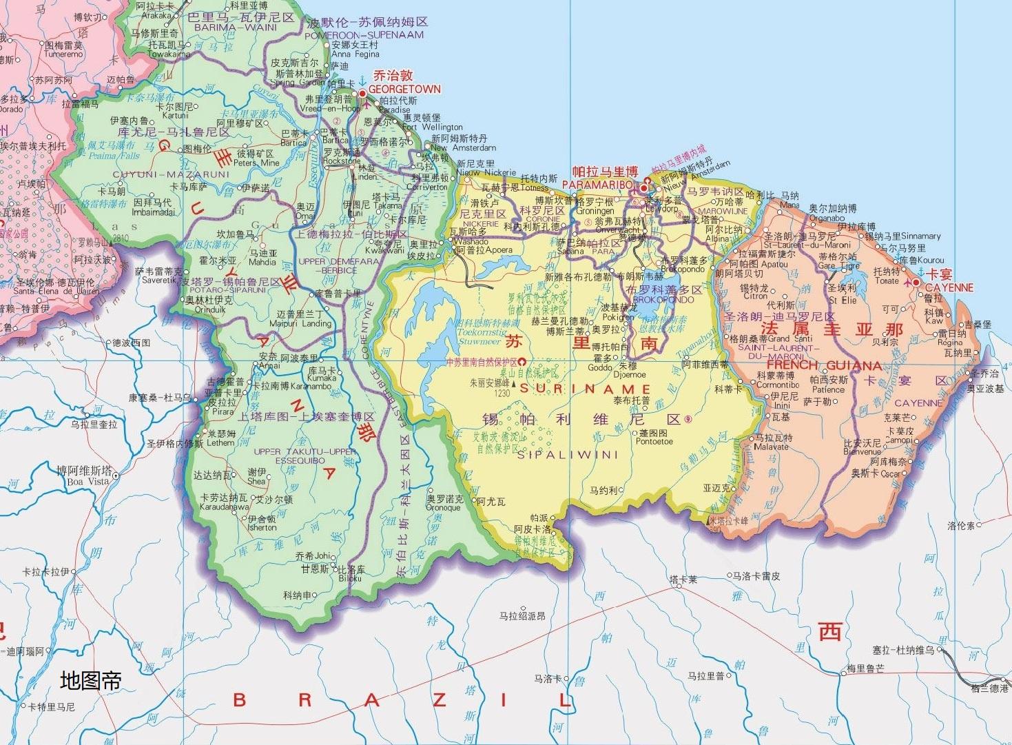 苏里南人口与面积_关于南美洲和巴西,高考地理喜欢考查的知识点整理 南美洲