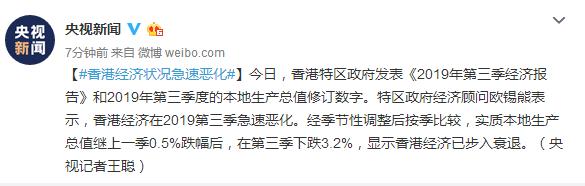 香港經濟狀況急速惡化_生產總值