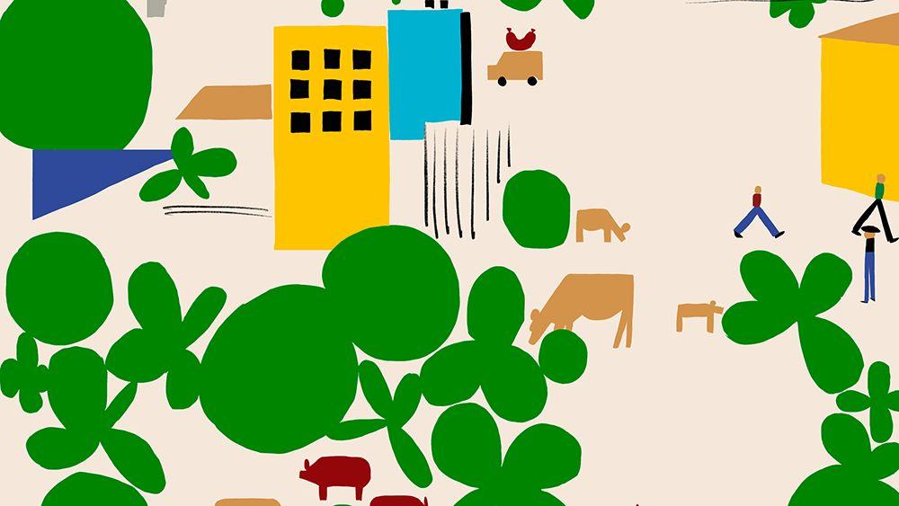 猪肉供应商品牌形象设计
