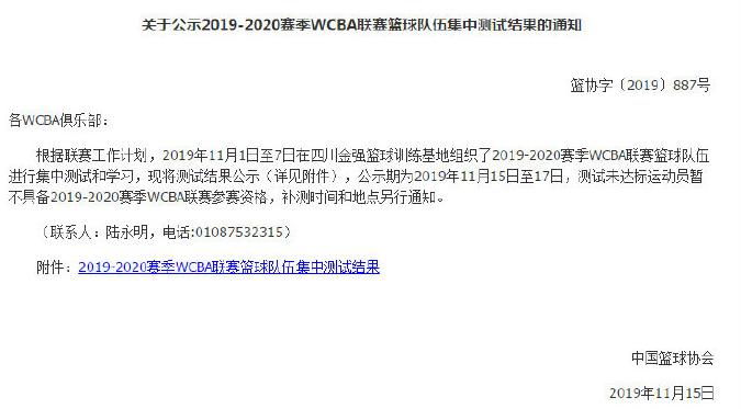 #新京報#WCBA體測29人未能達標,將暫失參賽資格