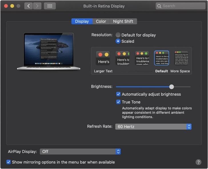 """獨享的""""Moment"""":16寸蘋果MacBook Pro屏幕刷新率可調_用戶"""