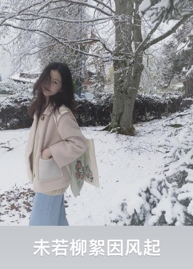 李嫣回眸侧目晒雪景照,穿搭时尚尽显优雅,星范儿不输妈妈王菲_生活