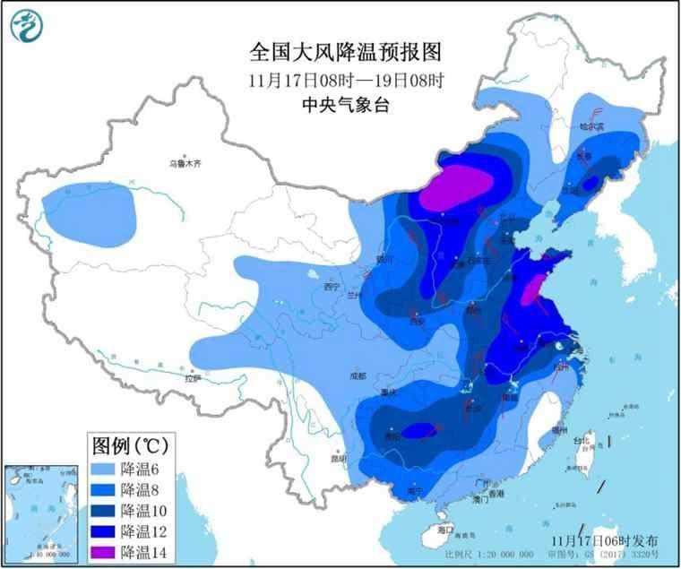 全国三分之二国土气温或创新低 东北有大到暴雪_大部地区