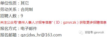 【聘用】贵州财经大学商务学院2019年招聘9名教师