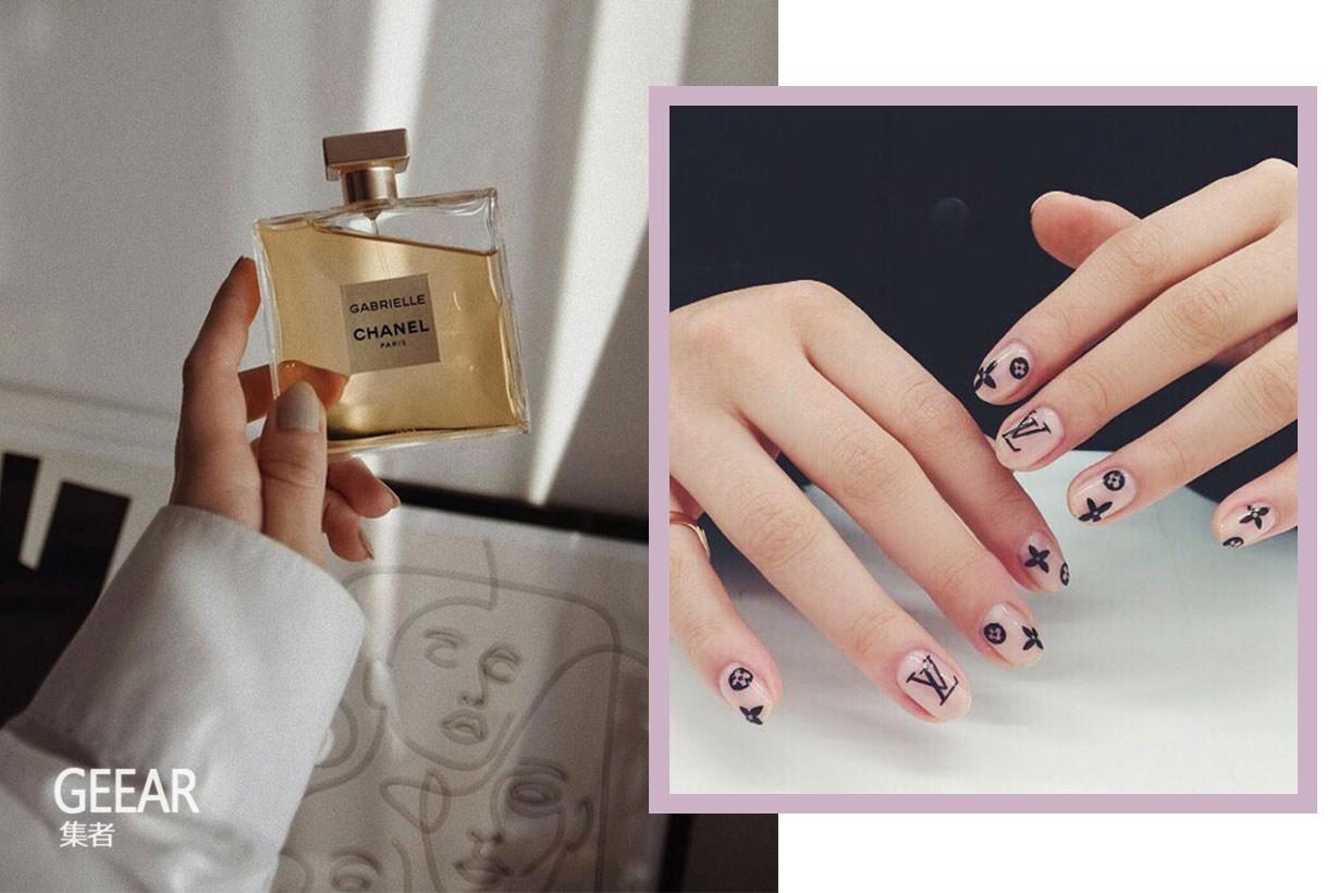 欧美最新美甲趋势:直接将奢侈品牌Logo涂在指甲上!