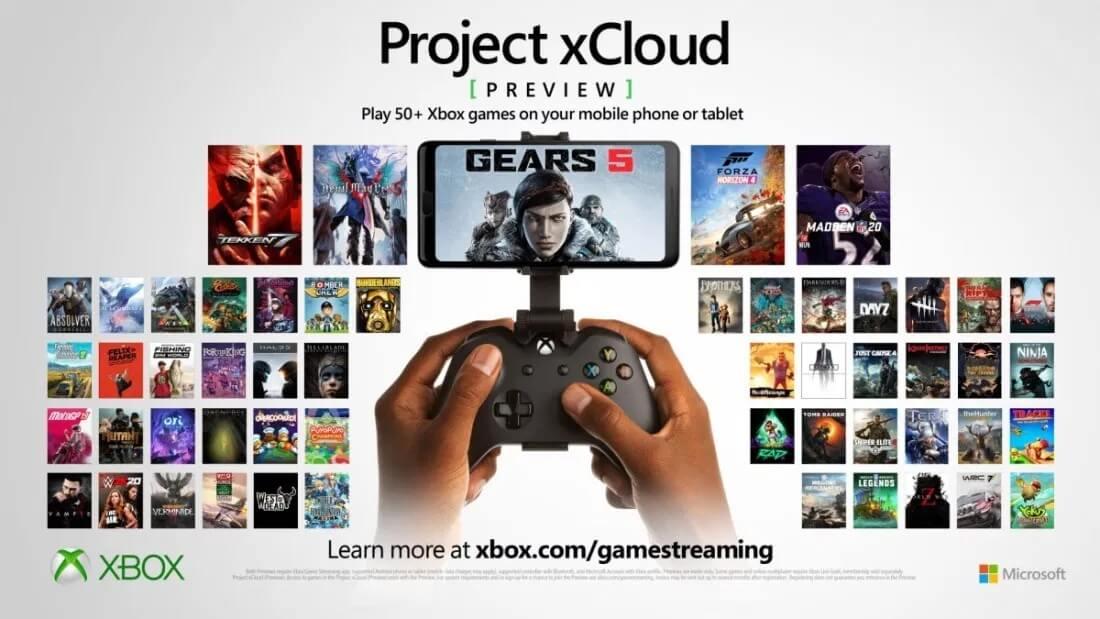 微软开始抓紧测试:xCloud云游戏服务增加了50个游戏_Project